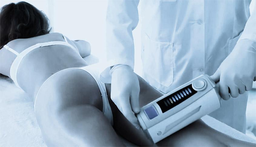 Pieza de mano para combatir la celulitis y actuar sobre las imperfecciones de la cara.